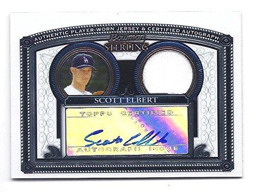 SCOTT ELBERT 2005 Bowman Sterling #BS-SE JERSEY AUTOGRAPH ROOKIE Card RC Los Angeles Dodgers Baseball