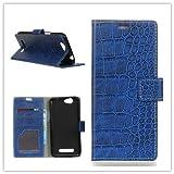 Funda® Flip Wallet Case for Wileyfox Spark X (Blue)