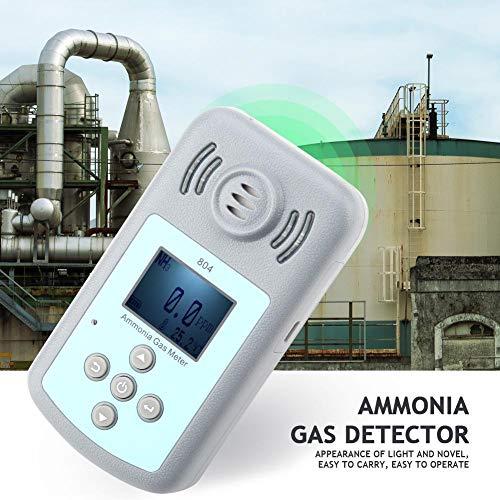 804 Pantalla digital gris Detector de fugas de gas de amoníaco -15 ~ + 50 ℃ Detector de NH3 Detector de gas de amoníaco de mano Monitor de gas de amoníaco