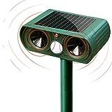 SunTop Solar Auyentador para Gatos, Repelente ultrasónico para Animales,con LED,Carga Solar,ristente al Agua,Uso en Exteriores,Tierra de Jardinería y de Animales/Ratones, Perroas