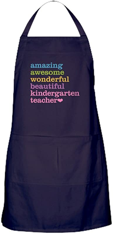 CafePress Kindergarten Teacher Kitchen Apron With Pockets Grilling Apron Baking Apron