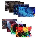 Kurtzy Etui Carte Bancaire Anti Piratage avec Blocage RFID (Lot de 8) - Protection Carte Bancaire Hommes et Femmes - Etui Anti RFID pour Cartes de Crédit et de Débit - S'Adapte aux Portefeuilles