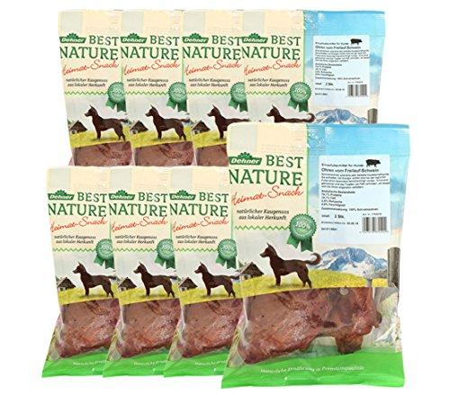 Dehner Best Nature Hundesnack, Schweineohren, 8 x 2 Stück (720 g)