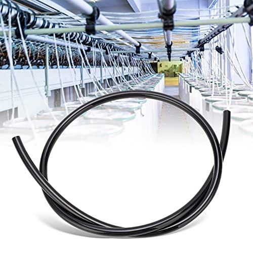 Tubo neumático, bomba de aire resistente a alta presión Manguera neumática para reparación de automóviles Fábrica para la industria de la madera para pintura decorativa(black, 10m)