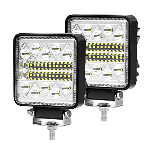 AIHOUSE LED-Arbeitslicht-Leiste 102W 4-Zoll-Spotlampe Off-Road-Lichtleiste, IP67 Wasserdichtes Quadrat-Treiben Scheinwerferfleckstrahl-Lichtlaterne Für SUV ATV Truck