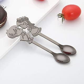 Soporte Flexible para Cuchara de Acero Inoxidable con Pinzas para Soporte de Cuchara antisalpicaduras y Abrazadera Fija Color al Azar BESTONZON