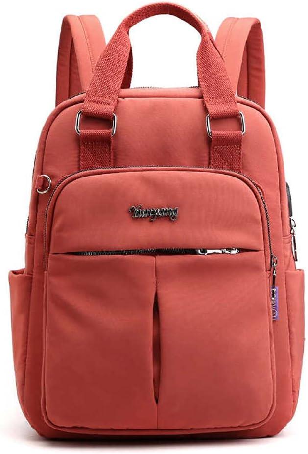 LEOCEE Solid Ladies Backpacks Large Capacity Multi-pocket Women Backpack Fashion School Bag for Girls Fashion Women Backpack