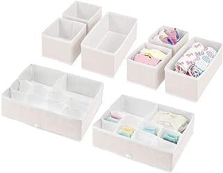 mDesign Rangement pour Chambre Enfant – système de Rangement élégant avec boites de différentes Tailles – Organiseur de ti...