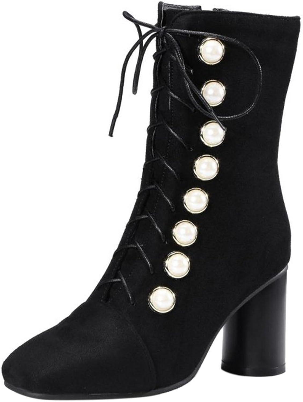 AicciAizzi Women Fashion Heels Boots Zipper