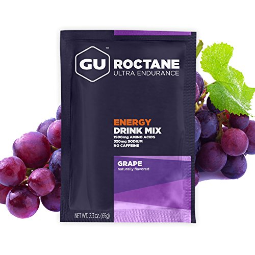 GU Energy Roctane Ultra Endurance Energy Drink Mix, 10 Single-Serving Packets, Grape