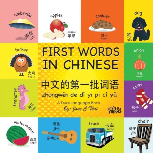 First Words in Chinese: (Bilingual English and Mandarin Chinese books for kids) Dual language Edition (book 1)