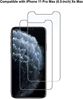 Dolson Screen Protector Compatible with iPhone 11 Pro Max and iPhone Xs Max 6.5-Inch, Tempered Glass Film, 2-Pack