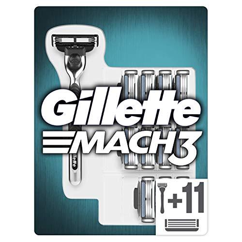 Gillette Mach 3 Rasoir Homme + 12 Lames de Rasoir, Ancienne Version