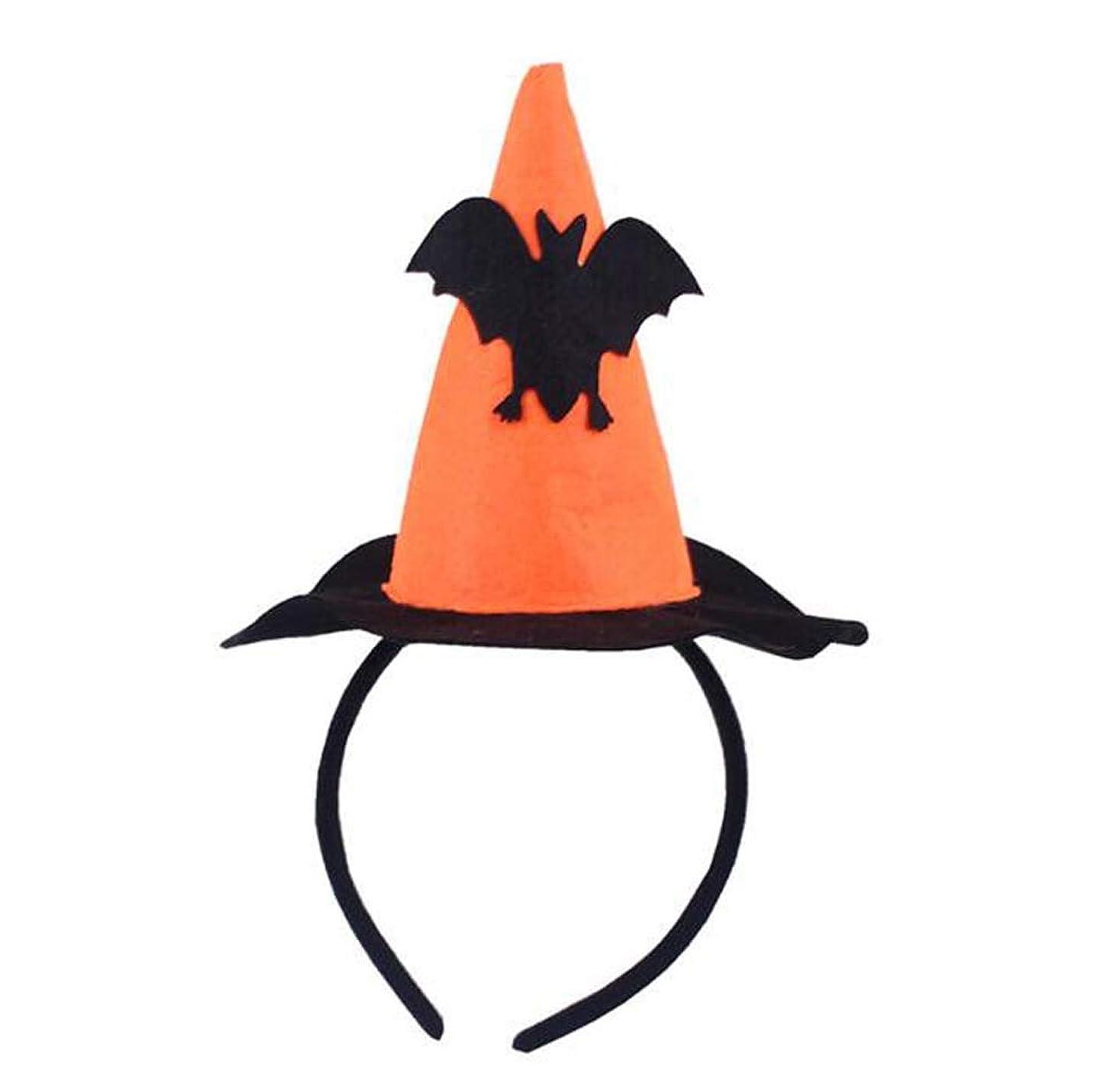 チーターきょうだいデザイナー子供のためのハロウィーンヘッドバンドミニヘアフープコスプレコスチューム、オレンジ