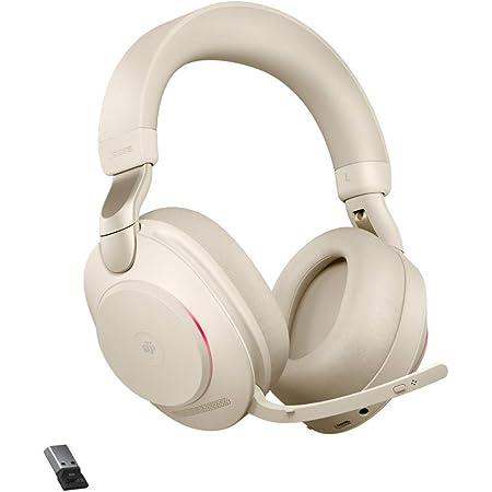 Jabra Evolve2 85 Wireless Pc Headset Noise Cancelling Microsoft Teams Zertifizierte Stereo Kopfhörer Mit Langer Akkulaufzeit Usb A Bluetooth Adapter Beige Elektronik