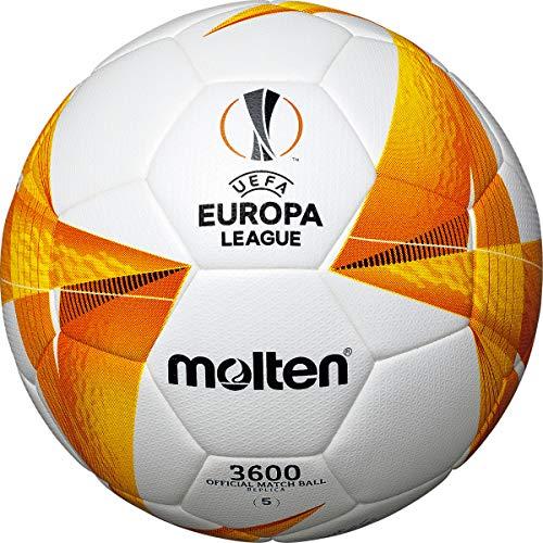 Molten UEFA - Balón de Entrenamiento réplica de balón de fútbol, Color Blanco, Naranja y Negro