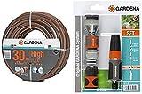 GARDENA Comfort HighFLEX Schlauch 13mm, 30 m: Gartenschlauch mit Power-Grip-Profil, 30 bar Berstdruck, formstabil, UV-beständig & Grundausstattung mit Anschlussteilen für 13 mm- und 15 mm-Schläuche