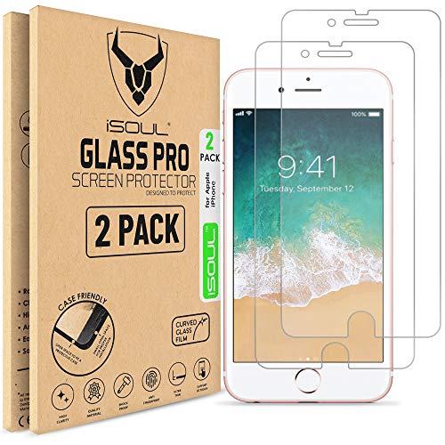 puissant Protecteur d'écran ISOUL en verre trempé pour Apple iPhone 8 CLEAR