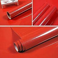 壁紙 40Cm幅の自己接着性壁紙食器棚家具紙キッチンキャビネットウォールステッカー部屋の装飾フィルム-Red_40Cm_X_5M