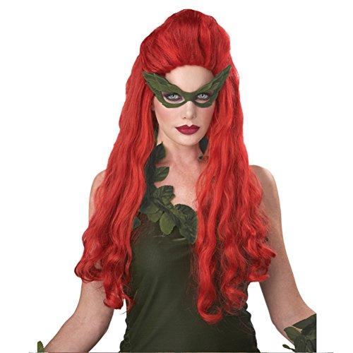 MyPartyShirt Lethal Poison Ivy Beauté Perruque Costume Rouge Sexy Batman Villain Mère Nature