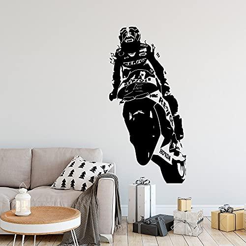 Calcomanía creativa de la pared de la motocicleta Sala de estar Mural móvil Dormitorio Arte de la pared decorativo Mural Etiqueta de la pared A4 36x74cn