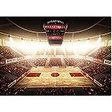 Toile de fond en vinyle 1,5 x 2,1 m pour séance photo de basket-ball, football, rugby, stade de sport pour garçon, fête d'anniversaire