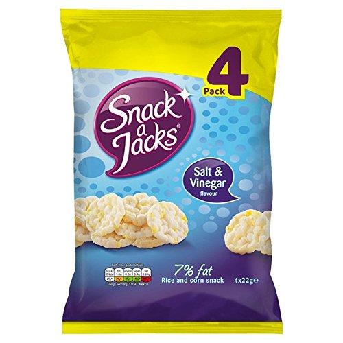 Snack Jacks Salz & Essig Reiskuchen 4 X 22G