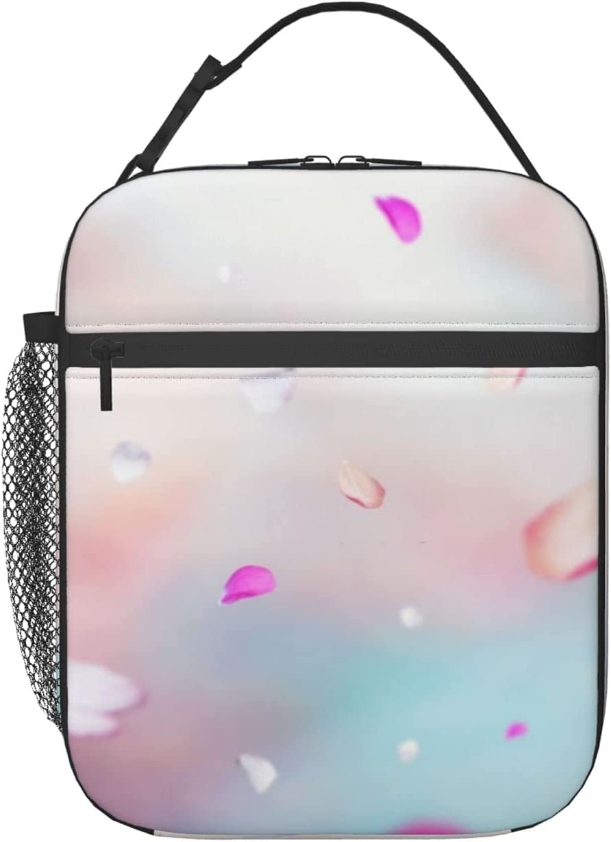 Cherry Petals safety Lunch Cash special price Box 3d Cooler Insulated Prep Kids Bag