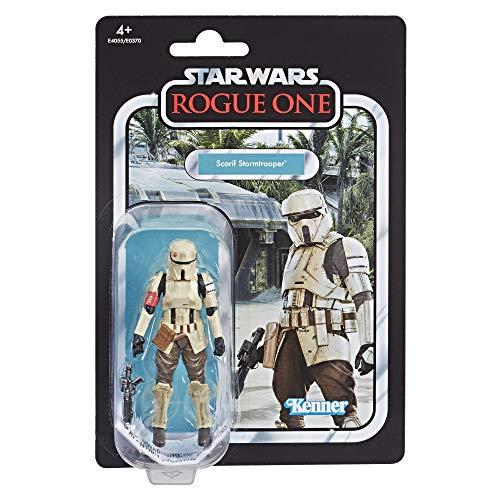 Hasbro Star Wars E4055ES0 Star Wars Rogue One Scarif Stormtrooper, Actionfigur mit vielen Details und Artikulationspunkten aus der Vintage Collection, Mehrfarbig