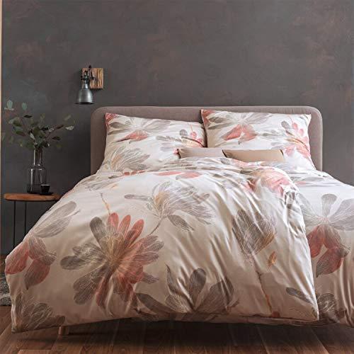 ESTELLA Mako Interlock Jersey Bettwäsche Kimi Creme 1 Bettbezug 135x200 cm + 1 Kissenbezug 80x80 cm