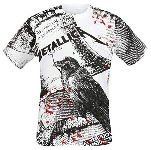 Metallica Bell Tolls Hombre Camiseta Blanco, Regular