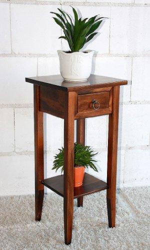 CASA Massivholz Beistelltisch Blumentisch Blumenhocker 80 - Holz massiv Kolonial