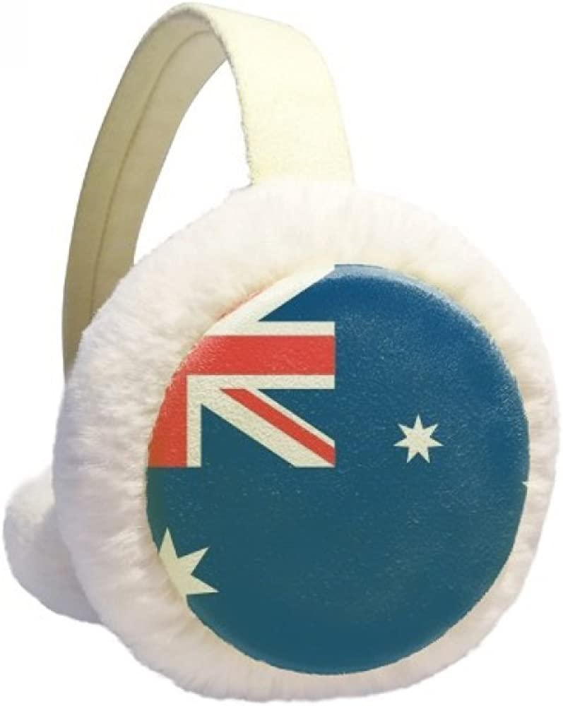 Australia National Flag Oceania Country Winter Ear Warmer Cable Knit Furry Fleece Earmuff Outdoor
