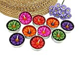 NAVA CHIANGMAI Flower Tealight Candles Scented Tea Lights Aromatherapy Relax Candles for Birthday Party Supplies and Wedding Favor Baby Shower Decorations Pack of 10 Pcs(Multi-Colored Daisy Flower)