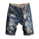 Pantalones Vaqueros para Hombre Pantalones Corto Hombre Tallas Grandes Pantalones Casuales Moda Rotos Jeans Sueltos Ocasionales Elásticos Pantalon Fitness Pants Largos Pantalones Ropa de Hombre vpass