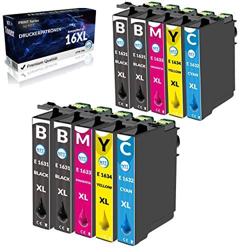 NTT 10 cartuchos de tinta XL de repuesto para Epson 16XL compatibles con Epson Workforce WF2630 WF2510 WF2760 WF2530 WF2520 WF2540 WF2750 WF2660 WF2650 WF2010