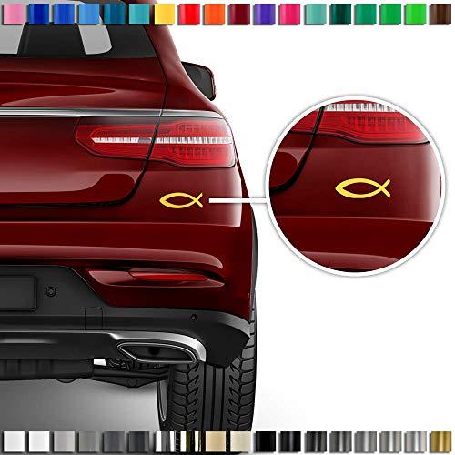 Auto-Dress® Christenfisch Auto-Aufkleber 11x4cm (Schwarz-Glanz)
