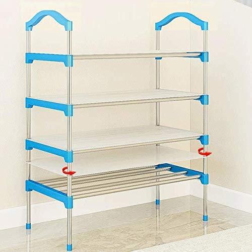 LLLKKK Zapatero multicapa, fácil para el hogar, a prueba de polvo, armario para mujer, para ahorrar espacio, color azul