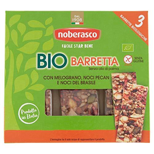 Noberasco Bio Barretta con Melograno, Noci Pecan e Noci del Brasile , 3 x 25 gr