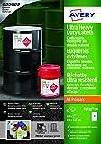 Avery España B3655-50 - Caja de 100 etiquetas para uso industrial