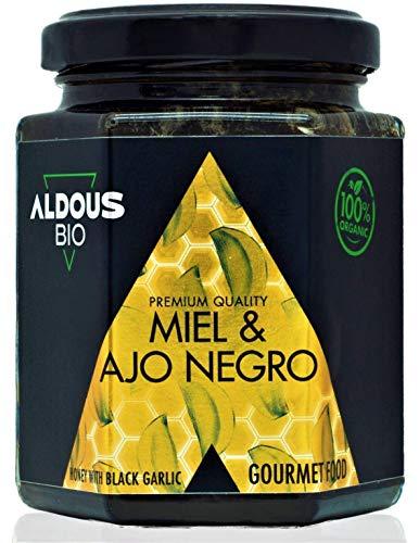 Miel Bio Authentique à l'Ail Noir Bio   240g   100% Naturel et Artisanal Sans Colorants ni Conservateurs   Antioxydant, Médical, Gourmet   Sans Sucre ajouté   Certifié Bio   Qualité Prémium (240g)