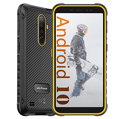 Ulefone Armor X8 (2020) Móviles Smartphones Libres, Android 10 Irrompibles 4G, HD+ de 5.7 Pulgadas, 64GB + 4GB, Batería de 5080mAh, Cámara 13MP + 8MP, Doble SIM FM Face ID NFC Naranja