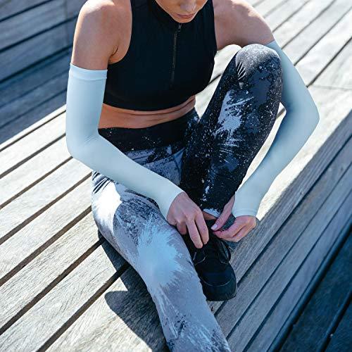 GreateverUVカット手袋・アームカバー冷感紫外線対策【UVカット率99%・SPF50+】日焼け防止吸汗速乾スポーツ腕カバーランニング野球メンズ/レディース夏用(ブルー)