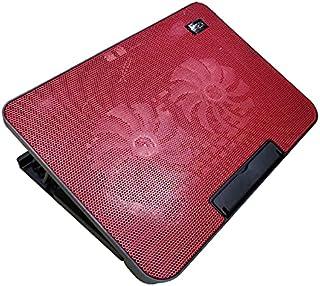 منصة تبريد لاجهزة اللاب توبZR 750 من زيرو مزودة بمروحة صامتة وبمنفذين يو اس بي، لاجهزة اللاب توب واجهزة نوت بوك - احمر