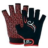 OPTIMUM Tribal Gants de Rugby Homme, Noir/Rouge, XL