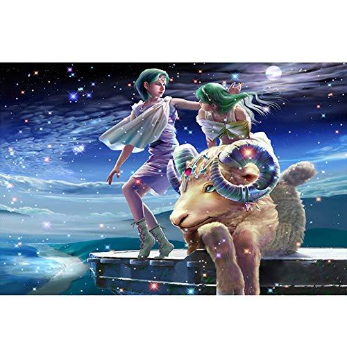 FFYUGO 12 Constelación de Madera Puzzles Adultos (520 Piezas) Acuario, Piscis, Aries, Tauro, Géminis, Cangrejo, Leo, Virgo, Libra, Escorpio, Sagitario, Capricornio, Puzzle, Decoración,Aries