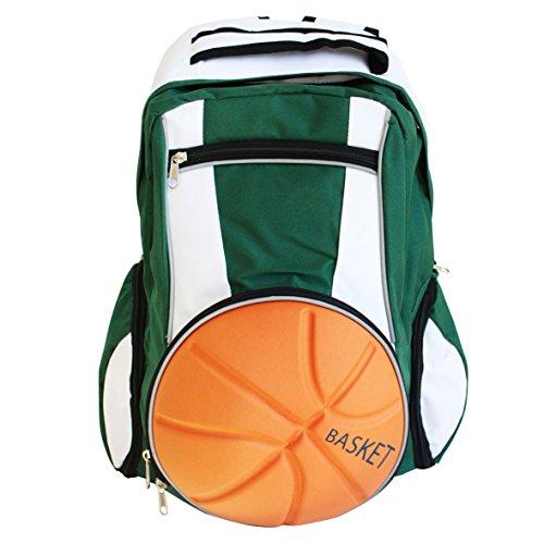 Diapolo Mochila profesional de baloncesto, color verde y blanco