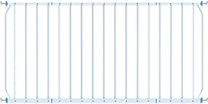L TSA Safety Gates Fixed Window Guard Baby Safety indoor Railing  with Pressure Mount Kit  160-230cm 77cm  White