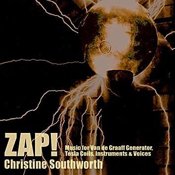 Zap! Music for Van de Graaff Generator, Tesla Coils, Instruments, and Voices (feat. Robert Black, David Cossin, Felix Fan, Philippa Thompson, Eddie Whalen & Evan Ziporyn)