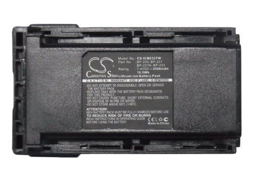 CS-ICM233TW Akku 2500mAh Kompatibel mit [ICOM] IC-4011, IC-A14, IC-A14S, IC-F14, IC-F14S, IC-F15, IC-F15S, IC-F16, IC-F16S, IC-F24, IC-F24S, IC-F25, IC-F25S, IC-F25SR, IC-F26, IC-F26S, IC-F3011, IC-F